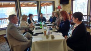 Hospice leaders meet and network at Muriale's in Fairmont